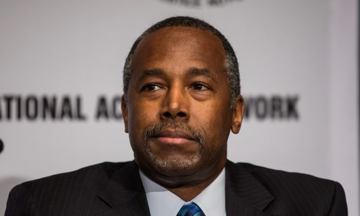 Republican presidential candidate Dr. Ben Carson in a file photo from earlier this year. (Andrew Burton/Getty Images)