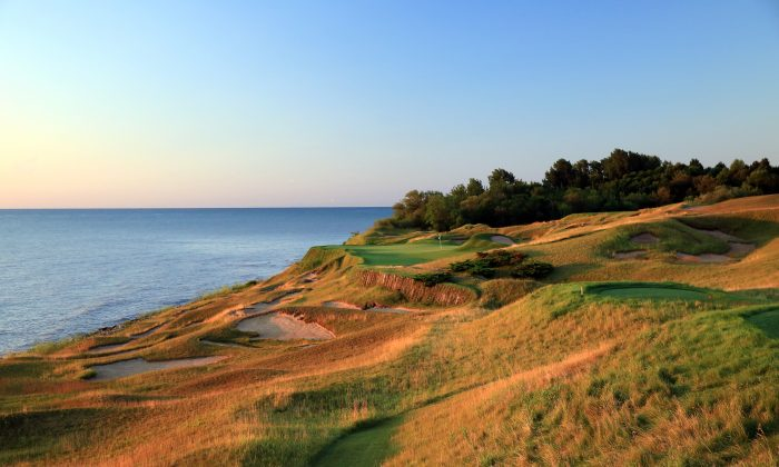 The 17th hole 'Pinched Nerve' on the Whistling Straits was the fourth most demanding hole during the last PGA Championship five years ago. (David Cannon/Getty Images)
