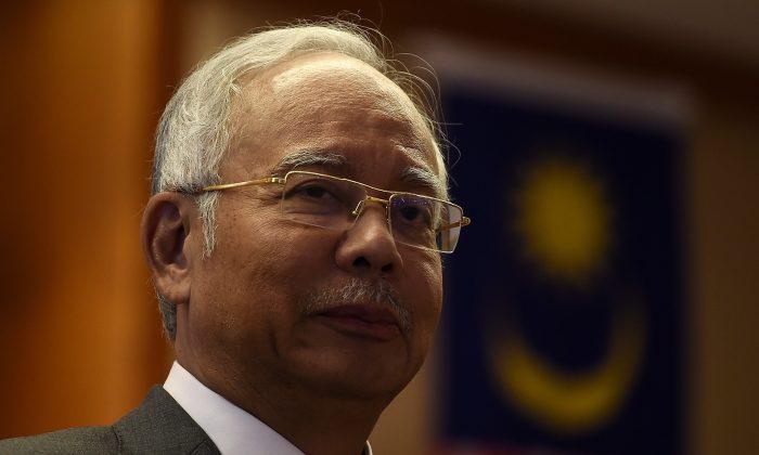 Malaysian Prime Minister Najib Razak during a meeting at his office in Putrajaya on July 8, 2015. (Manan Vatsyayana/AFP/Getty Images)