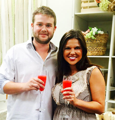 Amy Duggar and fiance Dillon King at her recent bridal shower at Dillard's in Fayeteville, Arkansas. (Amy Duggar)