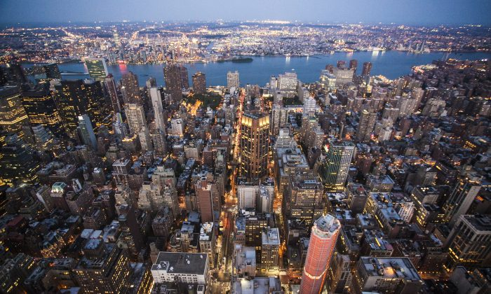 A view of Midtown Manhattan from the Empire State Building on  July 1, 2014. (Samira Bouaou/Epoch Times)