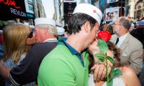Kissing in Times Square to Celebrate 70 Years Since V-J Day