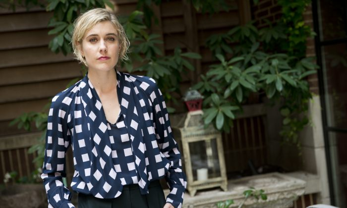 """In this July 28, 2015 photo, actress Greta Gerwig poses for a portrait in promotion of her film """"Mistress America"""" in New York. (Photo by Brian Ach/Invision/AP)"""