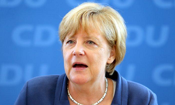 German Chancellor Angela Merkel in Berlin on Aug. 17, 2015. (WOLFGANG KUMM/AFP/Getty Images)