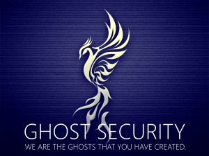 The logo of GhostSec, also called Ghost Security. The hacker organization was created to fight online propaganda and recruitment used by ISIS terrorists. (GhostSec)