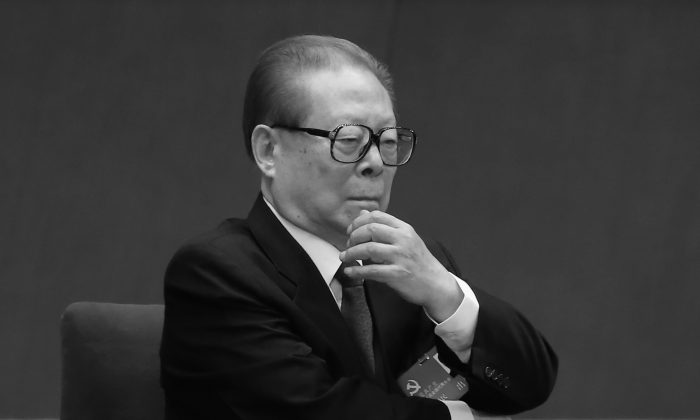 Former Communist Party leader Jiang Zemin attends the opening session of the 18th Communist Party Congress at the Great Hall of the People on Nov. 8, 2012 in Beijing, China. (Feng Li/Getty Images)