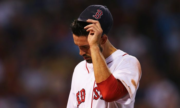 Rick Porcello of the Boston Red Sox has an ERA of 5.81 through 20 starts in 2015. (Maddie Meyer/Getty Images)