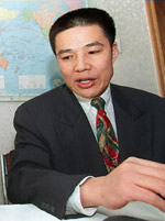 Peng Ming at a press conference in Beijing, December 1998.  (AFP/Getty Images)
