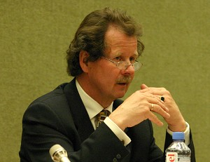 Special Rapporteur on Torture, Manfred Nowak, addresses delegates at the 61st session of the United Nations Commission on Human Rights last April in Geneva. Nowak recently completed his long-awaited fact-finding mission to China with a scathing press statement. (Jan Jekielek/The Epoch Times)