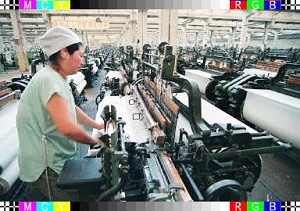 According to statistics released by the Ministry of Commerce of the People's Republic of China, from January to May of 2005, market demands for 900 commodities across 39 professions had declined, causing excess supply of textiles, household appliances, and shoes, etc. (Chai Hin/AFP/Getty Images)