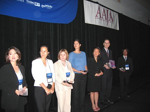 With the other winners. This year, more than 100 media had submitted articles for AAJA consideration. (The Epoch Times)