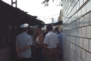 In September the police and plainclothes police have tried many times to demolish the appealer's inn. (The Epoch Times)
