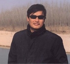Chinese blind human rights activist Chen Guangcheng