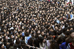 Image #51690688 Caption: More than 20,000 job-seekers applied for civil service jobs with the local government in Xian. (Photo by China Photos/Getty Images)