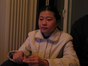 Gao Gege, 13-year-old daughter of human rights attorney Gao Zhisheng. (Photo courtesy of Mr. Hu Jia, an environmentalist and human rights activist in China)