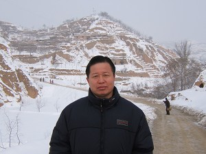 Attorney Gao Zhisheng at his hometown in North Sha'anxi Province in early 2006. (Ye Shuang)