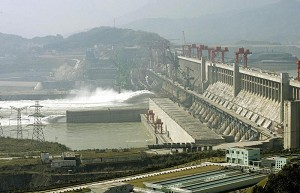The Three Gorges Dam in Yichang City, Hubei Province. (Andrew Wong/Getty Images)