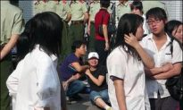 Armed Police Suppress High School Student Protest