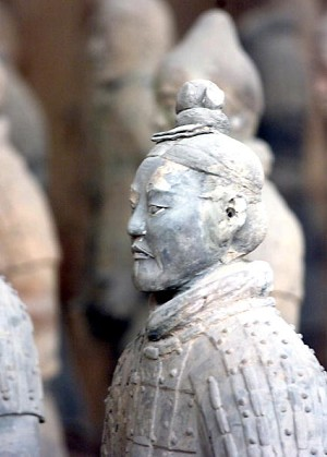 Some of the army of terracotta soldiers have been relocated to a museum located about 40 kilometers from the ancient capital of Xian in northern China. (Goh Chai Hin/AFP/Getty Images)