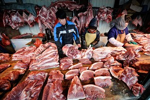 Price of pork in China has increased by 58.8 percent since last January. (AFP/Getty Images)