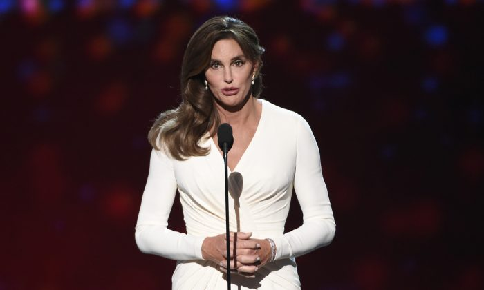 In this Wednesday, July 15, 2015 file photo, Caitlyn Jenner accepts the Arthur Ashe award for courage at the ESPY Awards at the Microsoft Theater in Los Angeles. (Photo by Chris Pizzello/Invision/AP)