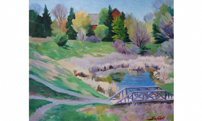 """""""Fletchers Spring Day"""" by Ottawa artist Paul Schibli is part of the Hidden Gems exhibition at Cube Gallery. (Courtesy of Cube Gallery)"""