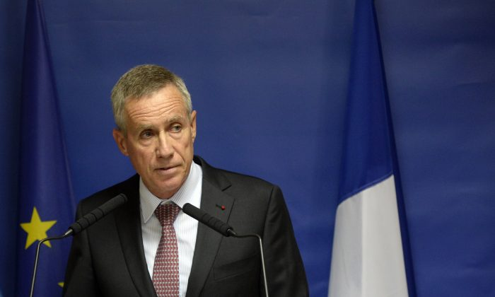 Paris chief prosecutor Francois Molins delivers a speech on August 25, 2015 in Paris during a press conference concerning Ayoub El-Khazzani, the suspect in August 21's Thalys train attack, has been brought before the court after four days in custody. (Miguel Medina/AFP/Getty Images)