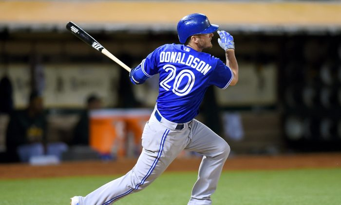 Josh Donaldson of the Toronto Blue Jays has powered his team into the playoff race and he's now the new front-runner for AL MVP. (Thearon W. Henderson/Getty Images)