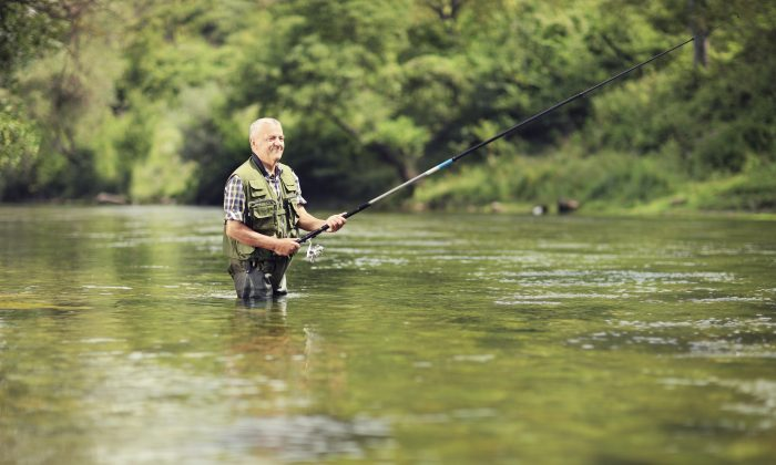 Stock photo of a man fishing. (Ljupco/iStock)
