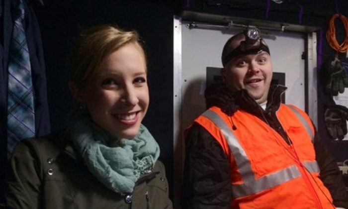 This undated photograph made available by WDBJ-TV shows reporter Alison Parker, left, and cameraman Adam Ward. Parker and Ward were fatally shot during an on-air interview, Wednesday, Aug. 26, 2015, in Moneta, Va. (Courtesy of WDBJ-TV via AP)