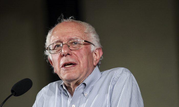 Democratic presidential candidate Sen. Bernie Sanders (I-Vt.) speaks in Salem, N.H., on Aug. 23, 2015. (AP Photo/Cheryl Senter)