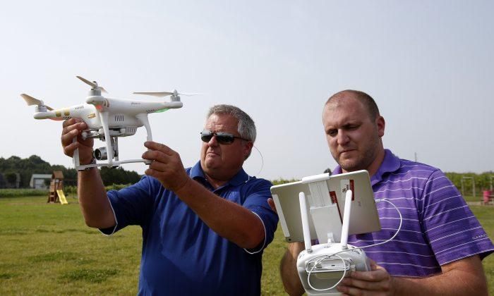 A drone demonstration in Cordova, Md., on June 11, 2015. (AP Photo/Alex Brandon)
