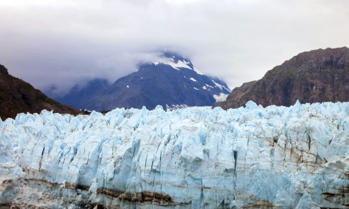 This July 30, 2014 photo shows Margerie Glacier, one of many glaciers that make up Alaska's Glacier Bay National Park. (AP Photo/Kathy Matheson)