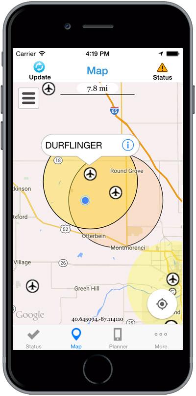 Screenshot of the app (FAA)