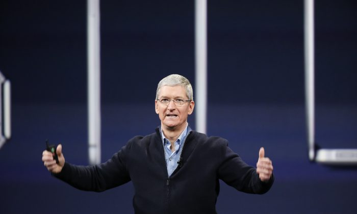 Apple CEO Tim Cook in San Francisco on March 9, 2015. (Stephen Lam/Getty Images)