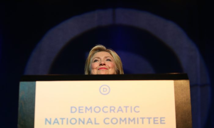 Democratic Presidential candidate Hillary Clinton speaks at the Democratic National Committee summer meeting on August 28, 2015 in Minneapolis, Minnesota.  Could Clinton or her aides be in legal jeopardy if they sent classified information over unsecure email while she was secretary of state? Experts in government secrecy law see almost no possibility of criminal action in the Clinton case, given the evidence that has so far been made public. Clinton's case appears to differ markedly from those of other prominent government officials who got in trouble for mishandling classified information, including former CIA director David Petraeus, who gave top secret information to his paramour, and former CIA director John Deutch, who took highly classified material home with him. (Adam Bettcher/Getty Images)