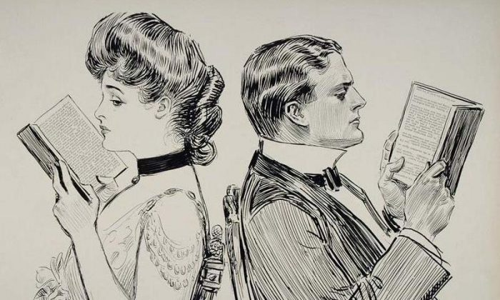 Their First Quarrel, Charles Dana Gibson. (Wikipedia)