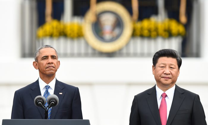 President Barack Obama and Chinese leader Xi Jinping at the White House on September 25, 2015 (Jim Watson/AFP/Getty Images)
