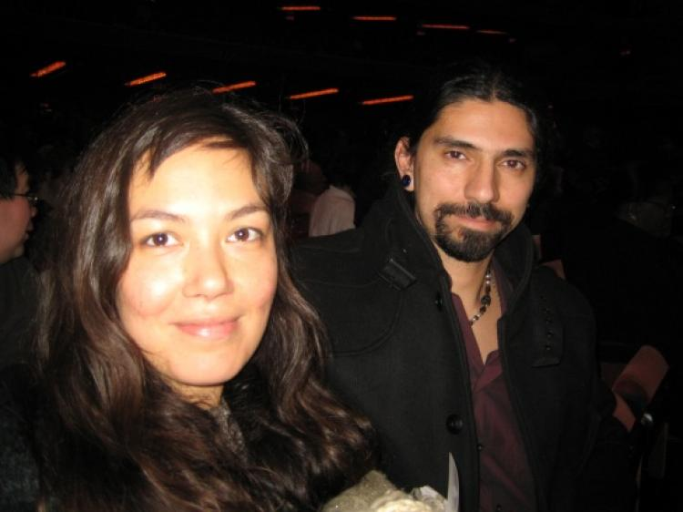 Ms. Malia and her acquaintance at Shen Yun's performance in Radio City Music Hall. (Can Sun/The Epoch Times )