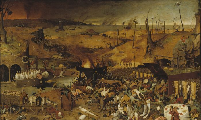 """Triumph of death,"" by Pieter Brueghel the Elder from 1562.  Is it the end of civilization? Or just the end of sensationalistic theater.  (Museo del Prado/Public Domain)"