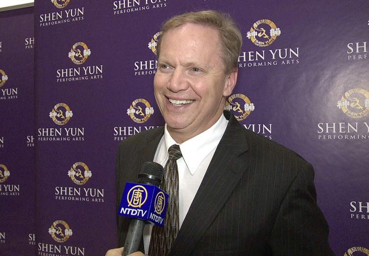 Mark Davey, a retired broadcaster who worked for CNN, at Shen Yun Performing Arts at Lincoln Center on Saturday. (Courtesy of NTD Television)