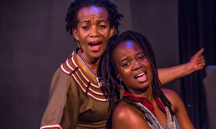 "Thuli Dumakude and Tanyaradzwa Tawengwa perform in ""Africa My Beautiful."" (Donnell Culver)"