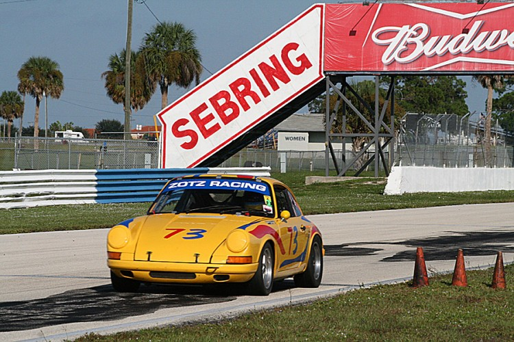 Richard Sneed drives his 1970 Porsche 911T towards Turn Seven during HSR's Sebring Fall Classic event. (James Fish/The Epoch Times)