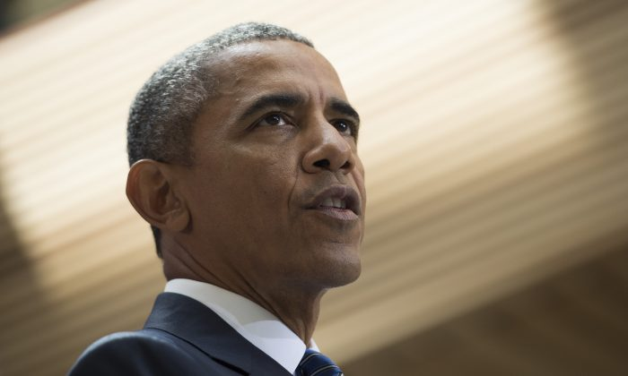 President Barack Obama delivers remarks on the nuclear deal reached with Iran at American University in Washington, D.C., on Aug. 5, 2015. (Jim Watson/AFP/Getty Images)