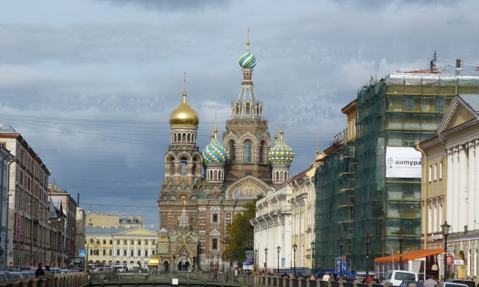 The Church of the Savior on the Spilled Blood was built on the site where Emperor Alexander II was fatally wounded in March 1881. It was looted after the Russian Revolution, damaged in WWII, and eventually used as a warehouse, only to be restored to its former glory and reopened as a church in 1997.  Photos by Barbara Angelakis