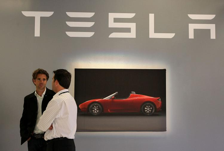 Electric car maker Tesla Motors have announced development deal with Toyota. (Justin Sullivan/Getty Images)