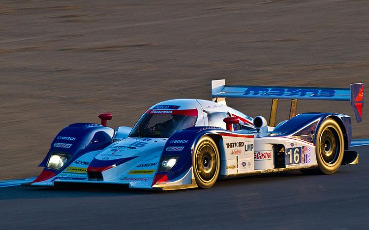 The Dyson Lola Mazda will start form the pole in Saturday's six-hour ALMS Monterey endurance race. (Courtesy of Regis Lefebure/Dyson Racing)