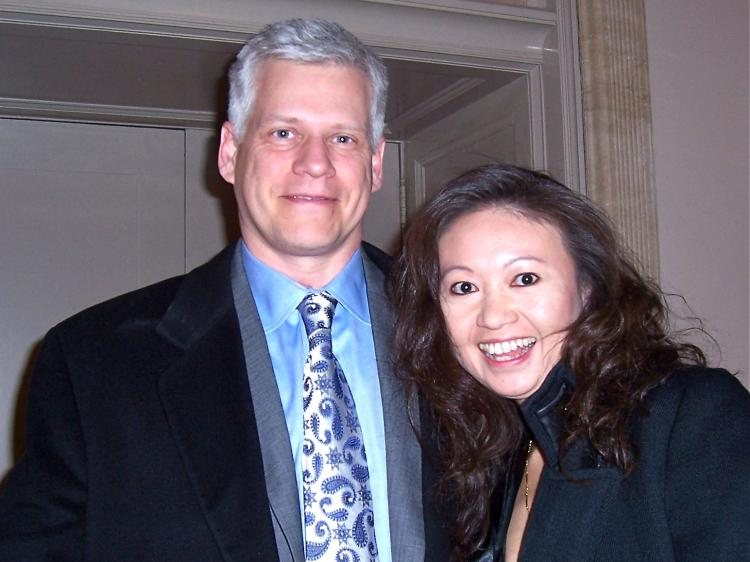 Attending Shen Yun with Dr. Wu was Robert Bacon. (Kerry Huang/The Epoch Times)