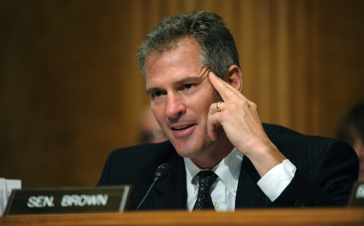 US Senator Scott Brown (R-Mass), last July 2010 on Capitol Hill in Washington. Recently, Brown has publicly rejected the Republican budge plan because of its stance on Medicare reform. ( Tim Sloan/Getty Images )