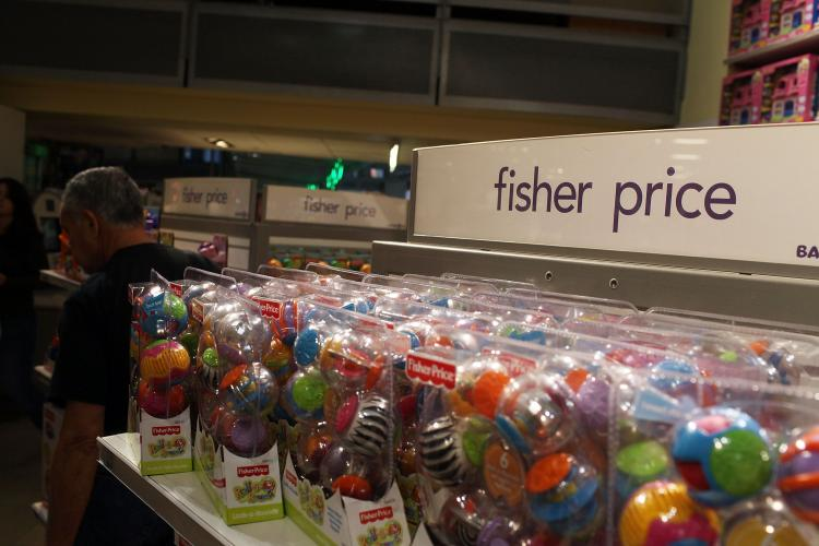 Fisher Price, one of the world's largest toy manufacturers, announced the recall for numerous toddler toys and baby items. The recall will affect millions of items, including high chairs and trikes, sold from 1997 through 2010 and was made after various toy-related incidents were reported. (Spencer Platt/Getty Images)